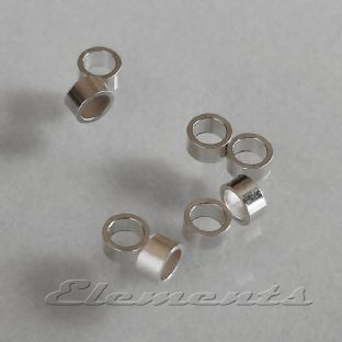 Sterling Silver 1mm X 2mm Tube Crimps SF003